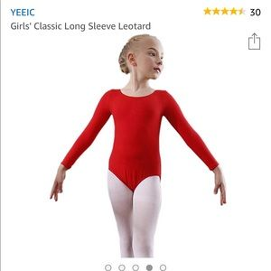 Other - Toddler Girls Red Leotard
